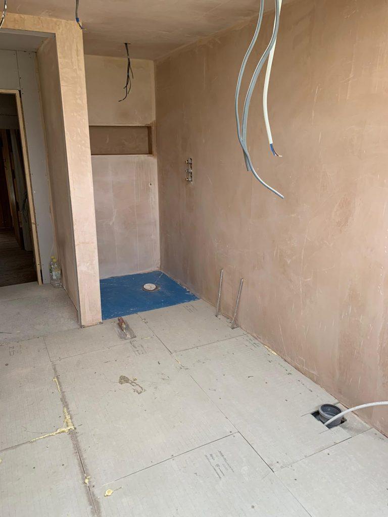 hardiebacker board applied to floor